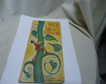 Vintage Jack and the Beanstalk Childrens Skinny Book by Norman Nodel, collectable