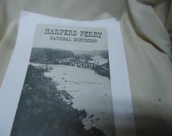 Vintage 1956 Harper's Ferry National Monument Fold Out Brochure, collectable