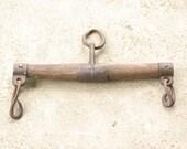 Vintage Horse Yoke Oxen Yoke Plow Harness, Single Tree Harness, Rustic Farm Decor, Amish Decor, Primitive Farming Tool