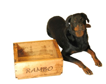 Dog Toy Box , Cat Toy Box, Cat Bed, Small Dog Bed, Personalized Pet Box, Dog Toy Bin, Wooden Crate, Memory Box, Custom Engraving Available