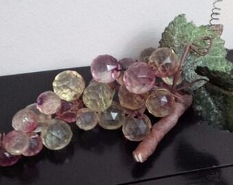 Faceted Grapes RARE Style Retro Lucite Cluster Eames Era MCM -Gorgeous Vintage 60s Decorator Item