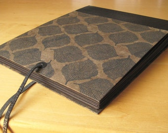 Photo Album - Leather and Leaf Paper