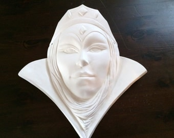 Paint it Yourself The Queen Face Mask Ceramics Poured by CrazyOldLadyJC