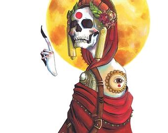 Sunshine, Lollypops - A5 fine art print Skull Deity