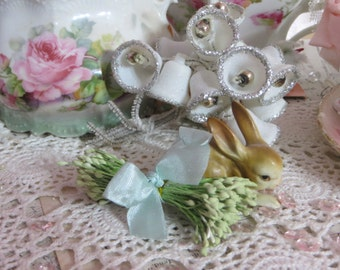 Vintage Millinery Hat Supplies-Stamens-Pips-Sugar Craft-Cakes-Wedding-Corsages-OLD STOCK-Double Ends