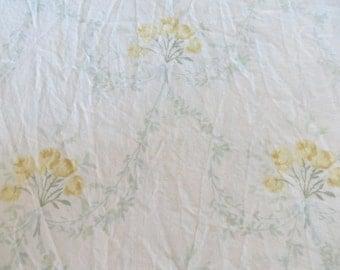 Simply Shabby Chic Roses Fabric-Rachel Ashwell-Yellow Roses Swag-1 yard