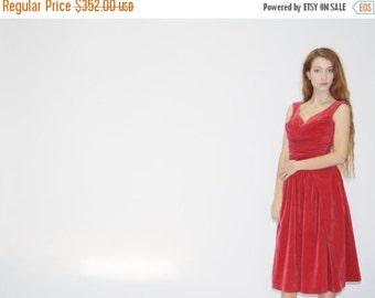 70% Off FINAL SALE - Vintage 1950s Berry Velvet Shelf Bust Velvet Dress  - Vintage 50s Velvet Dress - 50s Holiday Dresses  - WD0509