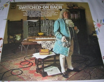 Vintage Switched-On Bach Virtuoso Electronic PerformanceWalter Carlos MS 7194 Vinyl Record Album Circa 1968