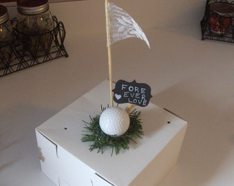 Golf Wedding Cake Topper