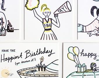 You Pick Letterpress Cards Set of Six