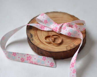pine wood ring bearer pillow for wedding decor • ring bearer pillow