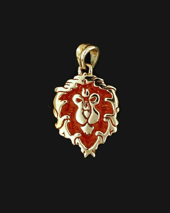 WoW Alliance Lion Pendant in Antique Bronze