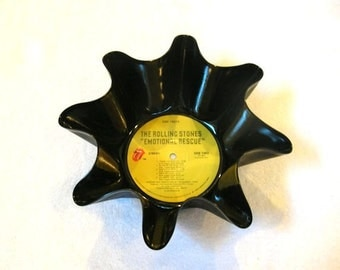 Rolling Stones Record Bowl Made From Vinyl Album - Mick Jagger