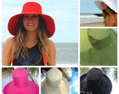 Custom Sun Hat Select Color Wide Brim Sun Hat for Small - Large Heads by Freckles California