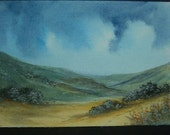 watercolour landscape aceo SFA art painting ref 231