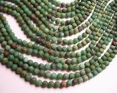 Australian Bloodstone - Matte - 6mm round beads - 1 full strand - 64 beads - RFG994