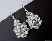 Bridal Earrings,Bridal Rhinestone Earrings,  Statement Bridal Earrings, Bridal Stud Earrings,Wedding rhinestone earrings, Stud, NATALEE