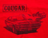 Mercury Cougar T-Shirt, Classic Muscle Car, Hanes Fifty, Vintage 80s