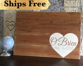 Wedding Sign In Guest Book Alternative - Wedding Signs Rustic -Wedding Signage, Personalized Wedding Sign - Wood Plank Art - Pallet Art