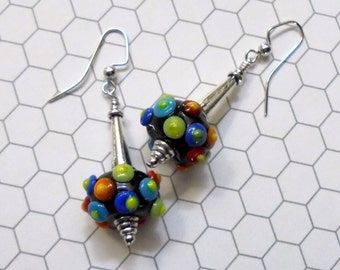 Multicolor Polka Dot Earrings (2466)