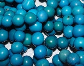 Turquoise Blue Acai Beads, Best Quality, Organic Beads, Natural Beads, EcoBeads
