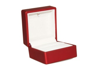 Red Ring Gift Box With LED Light - Light Ring Box Lights Up When Opened ~ Engagement Proposal