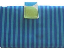 Aqua Clutch Button Baby Diaper and Wipe Holder Stylish Exclusive Design