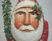 Santa Belsnickle Paper Mache Folk Art