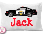 Police Car Pillow Case , Police Car,   Personalized Pillow Case