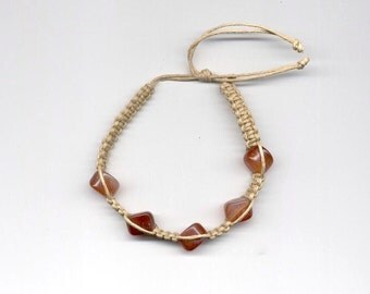 Hemp Bracelet BrownStone