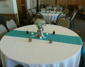 "Aqua- 16"" Wide-Aqua Burlap Runner-Beach Wedding-Table Runner-Wedding-Home Decor"