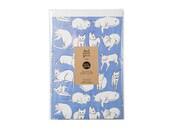 Indigo Cats Newprint Gift Wrap / Knot & Bow x Leah Goren / 3 Sheets