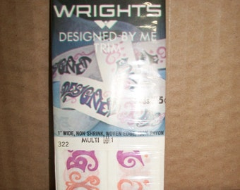 "Vintage Packaged Wrights Specialty Seam Binding: ""Designed By Me"""