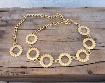 Gold Ring Chain Adjustable Belt OSFM by Omega