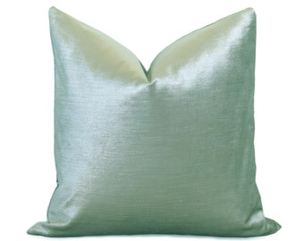 Glisten Velvet Pillow Cover - Teal Pillow - Teal Pillow - Light Aqua Pillow - Velvet Pillow - Decorative Pillow - Designer Pillow