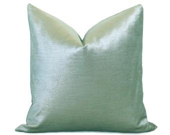 Glisten Velvet Pillow Cover - Teal Pillow - Teal Pillow - Light Aqua Pillow - Velvet Pillow - Decorative Pillow - Designer Pillow