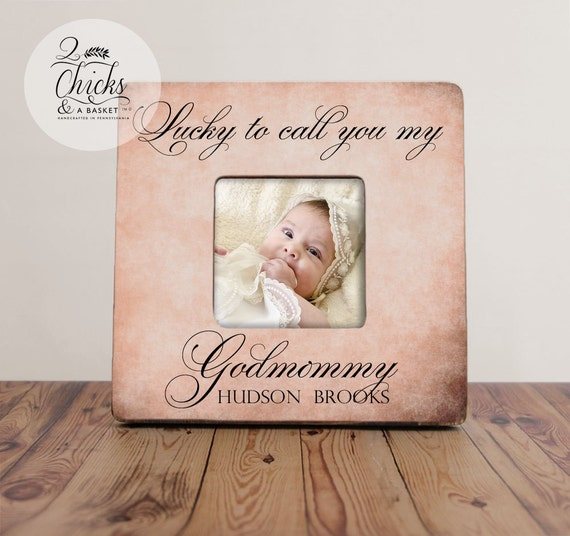 A Meaningful Baptism Gift Idea: Godmother Gift Personalized Baptism Picture Frame Godparent