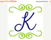 SALE INSTANT DOWNLOAD Southern Style Monogram Design Set 4 Machine Embroidery Monogram Font