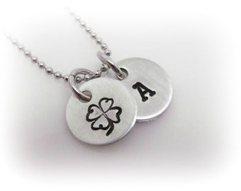 4 Leaf Clover Necklace Four Leaf Clover Jewelry Shamrock Necklace St. Patrick's Day St.Patty's Day Necklace Lucky Clover Necklace