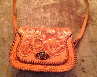 Vintage Tooled Leather Women's Purse