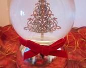 St. Nicholas Square Vintage Snow Globe - Musical Water Globe - Plays O Christmas Tree Song