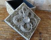 Vintage Beaded Jewelry Or Trinket Box
