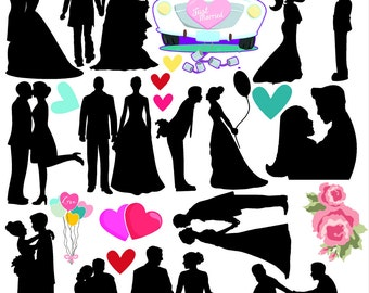 couples silhoette vinyl stickers for scrapbooking ,cards