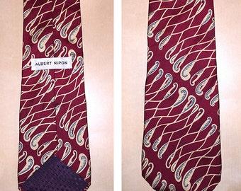 Men's Collectable Tie, Albert Nipon Vintage Silk Tie