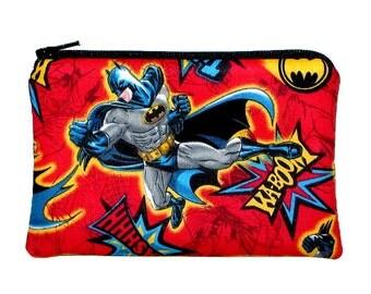 50% off Sale - Batman Super Hero Zipper Pouch - Ready to Ship