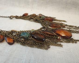 EsMor Fringe Dangle Necklace