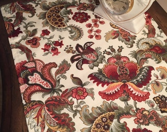 """Floral Paisley Table Runner 72"""""""