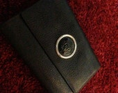 Vintage VERSACE black leather wallet from the 80s