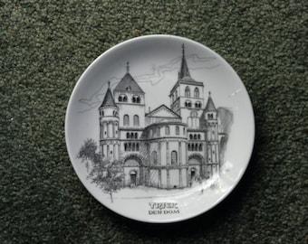 2-X REDUCED, Vintage Collector's Souvenir Plate, Der Dom, Trier Germany, GEGR 1949, Umlenhorst