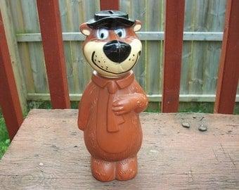 Vintage So Cute Yogi Bear Plastic Toy Bank